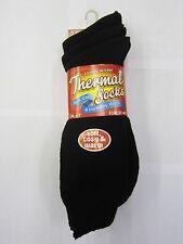 Femmes Noir Hiver Chaussettes Thermiques (EU 37-40) 3 Paires