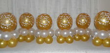 6 TABLE - GOLDEN WEDDING ANNIVERSARY  50th - BALLOON DISPLAY - TABLE CENTREPIECE