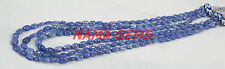 Natural Tanzanite Approx-4X6-6X8 mm Plain Oval Beads 3 Strand Wholesale Necklace