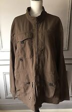 Eddie Bauer Travex Men's Jacket 2XL Dark Green Spring Coat UPF 50