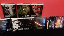 STAR WARS 1-7 Complete ITALIAN Bluray Steelbook Collection + 3D Lenticular Cover