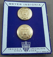 Vintage Military Academy / ROTC Collar Insignia / Collar Disc On Original Card
