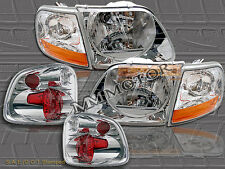 97 98 99 00 FORD F150 FLARESIDE / STEPSIDE HEADLIGHTS+ TAIL LIGHTS 1997-2000