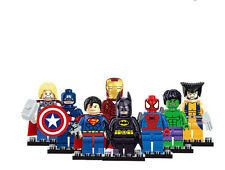 Set of 8pcs Figures DC Super hero Mini Figures Heroes Batman Avengers Kids Toy