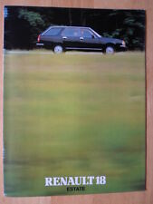 RENAULT 18 Estate Range c1982 UK Mkt sales brochure