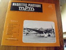 µ? Revue MPM maquette plastique n°7 Chebec Leopard Convair Potez 631