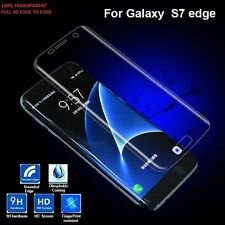 Clear Full Cover Tempered Glass Curved Screen Protector Samsung Galaxy S7 Edge