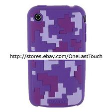 DERMIS CASE for IPHONE 3G PURPLE CAMOUFLAGE Slip Resistant PROTECTIVE COVER New!