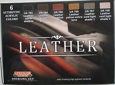 Lifecolor Acrylics LC-CS30 Leather paint set