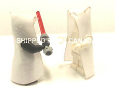 x2 WHITE HOODED Cape Lego Star Wars Sith Harry Potter Castle King Batman minifig