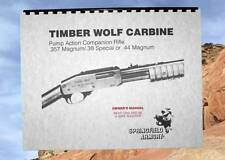 SPRINGFIELD ARMORY TIMBER WOLF Pump Action Carbine Rifle OWNERS MANUAL