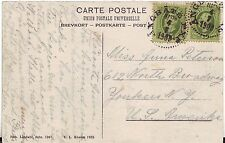 1909 Sweden Cover Steam Boat Lake Sea Post No. 179 to Yonkers NY USA on postcard