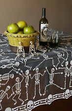 Heritage Lace HALLOWEEN Table Topper SKELETON Dance 58x58 Made in USA