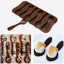 Silicone Baking Moule cuillère design Chocolate Cake Mold Biscuit Candi Décor