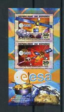 Burundi 2014 MNH ESA Satellites 2v Deluxe M/S Space Rosetta Mission Philae