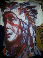 Psychedelic Rock Yoga Men T shirt Indians Apache Chief Freedom America Sure  M