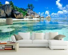 3D Wallpaper Bedroom Living Mural Beach Sea Landscape Modern Wall Background