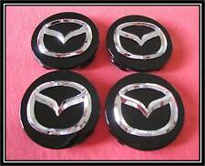 4pcs.New Mazda 3 5 6 CRX-7 CRX-9 Miata 626 MPV Millenia Wheel Center Cap (BLACK)
