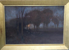 GERALD FITZGERALD 1873-1935 AUSTRALIAN LANDSCAPE ART PAINTING SHEEP SUNSET c1900