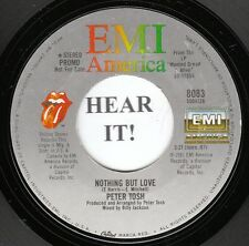 Peter Tosh REGGAE SOUL 45 (EMI America 8083 PROMO) Nothing But Love   MINT-