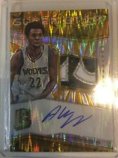 Andrew Wiggins 2015-2016 Spectra Patch Auto 8/10