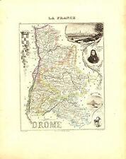 Carte du Département de la DROME, vers 1880. Migeon