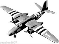 """Model Airplane Plans (UC): DOUGLAS A-20G HAVOC Scale 54"""" for .35-.45 Engines"""