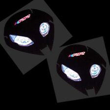 BMW S1000 RR ALIEN HEAD  Motorcycle decals graphics stickers x 2 REFLECTIVE