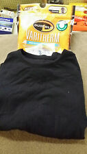 Duofold Mens Varitherm Long Sleeve Mock T Black Style 470 Size Small