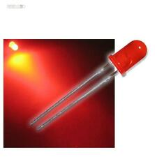 100 LEDs 5mm diffus rot, diffuse rote LED Typ WTN-5-3200r, red rouge rojo rosso
