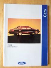 FORD voitures 1991/06 UK marché brochure de prestige-FIESTA XR2i, escort granada CAB