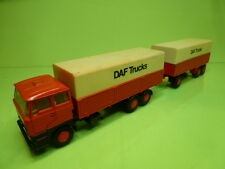 LION CAR 65 + 64 DAF 2800 TRUCK + TRAILER - ORANGE 1:50 - GOOD CONDITION