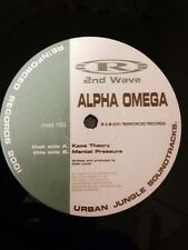"""Alpha Omega- Kaos Theory/ Mental Pressure 12"""" Vinyl Drum and Bass Reinforced"""