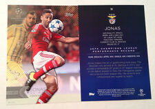 2016 Topps UEFA Champions League 5x7 GOLD (#/10 Made) JONAS SL Benfica #59 SSP