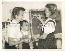 1941 Actress Mary Astor Playing With Son Tono & Daughter Marilyn Press Photo