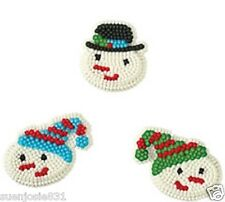Christmas Shiver Me Snowman Cake Cupcake Icing Decorations 9pc Wilton Supplies