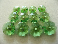 Peridot Swarovski Margarita Beads 3700 6mm 8mm 10mm 6 Pieces Each Size