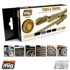 Ammo of Mig TIRES AND TRACKS Acrylic Paint Set (6 x 17mL jars) 7105