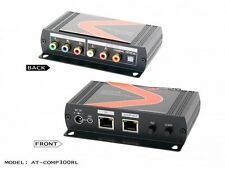 1x2 Component Video / Audio CAT5 Extender-Receiver AT-COMP300RL 1080P 1000ft