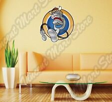 "Radio Microphone Karaoke Viking Hat Music Wall Sticker Interior Decor 22""X22"""
