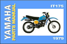 YAMAHA Parts Manual IT175 1979 F IT175F VMX Replacement Spares Catalog List