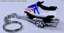 RARE NEW KEY CHAIN JET SKI SEA DOO WATERCRAFT JETSKI BOAT & METAL TRAILER HAULER