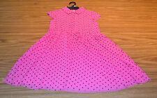 Guess Jeans Girl's Drawstring Waist Dress-DARK PINK DOT-16-NWT