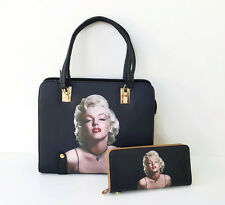 New Marilyn Monroe Womens Fashion Handbag Shoulder Tote Bag Purse Wallet Set NWT