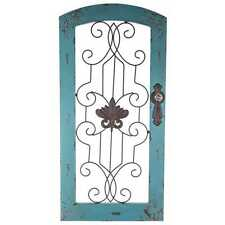 "NEW 32"" Distressed Turquoise & Metal- Wall Panel Home Decor Shabby Chic   NO TAX"