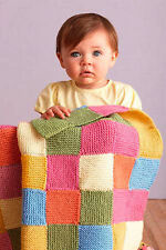 Knitting Pattern -Baby Cot/Pram Cover/Blanket P0079