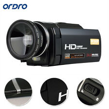 "Ordro 1080P Full HD Digital Video Camera Recorder 24MP 16X Zoom 3.0""Touch Screen"