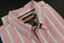 RUGBY by Ralph Lauren Medium Oxford Cloth Button Down Pink Striped OCBD Cotton