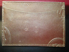 "NWB CARTIER ""HAPPY BIRTHDAY"" GOLD  LEATHER WALLET CREDIT CARD HOLDER"