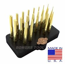 Grace USA 20pc Gunsmith Brass Punch Set Gun Care Pin Roll Spring MADE IN USA